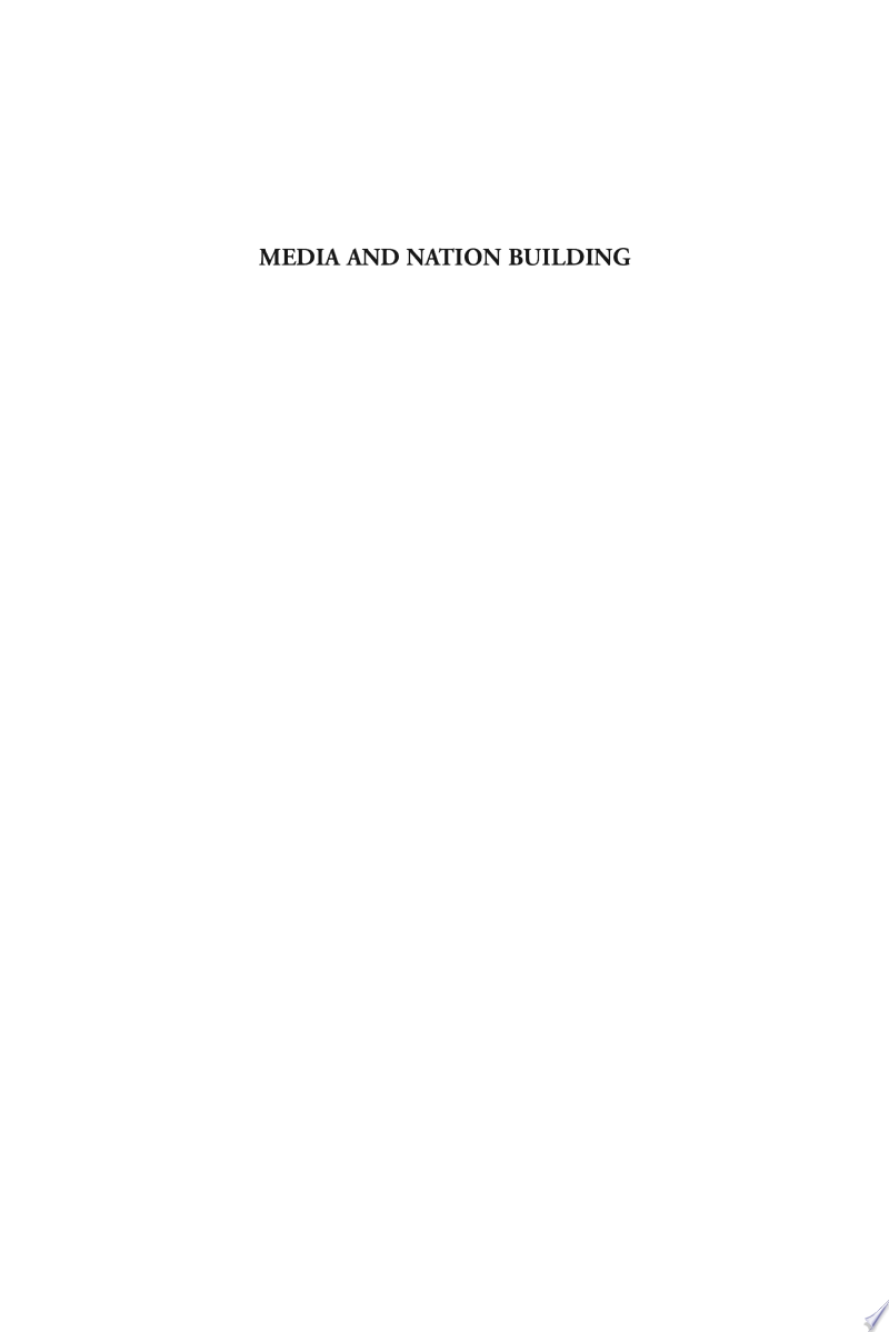 Media and Nation Building banner backdrop