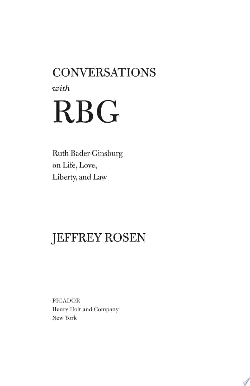 Conversations with RBG banner backdrop