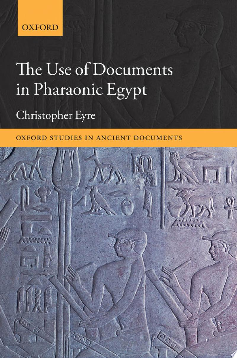 The Use of Documents in Pharaonic Egypt banner backdrop