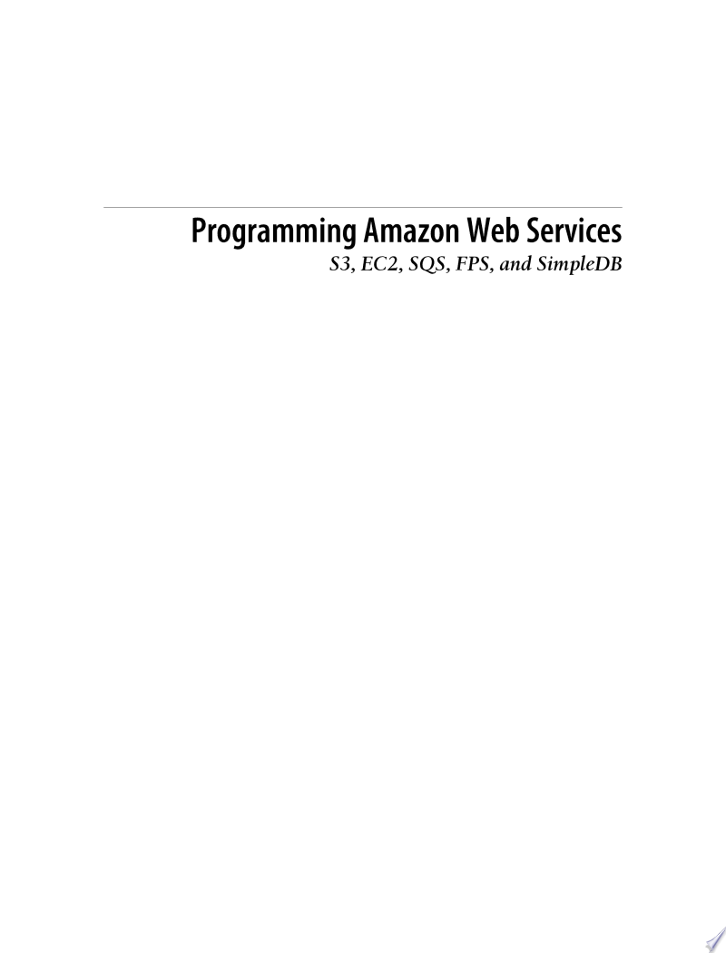 Programming Amazon Web Services banner backdrop
