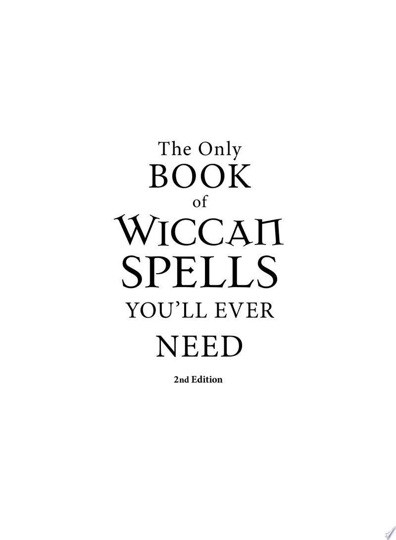 The Only Book of Wiccan Spells You'll Ever Need banner backdrop