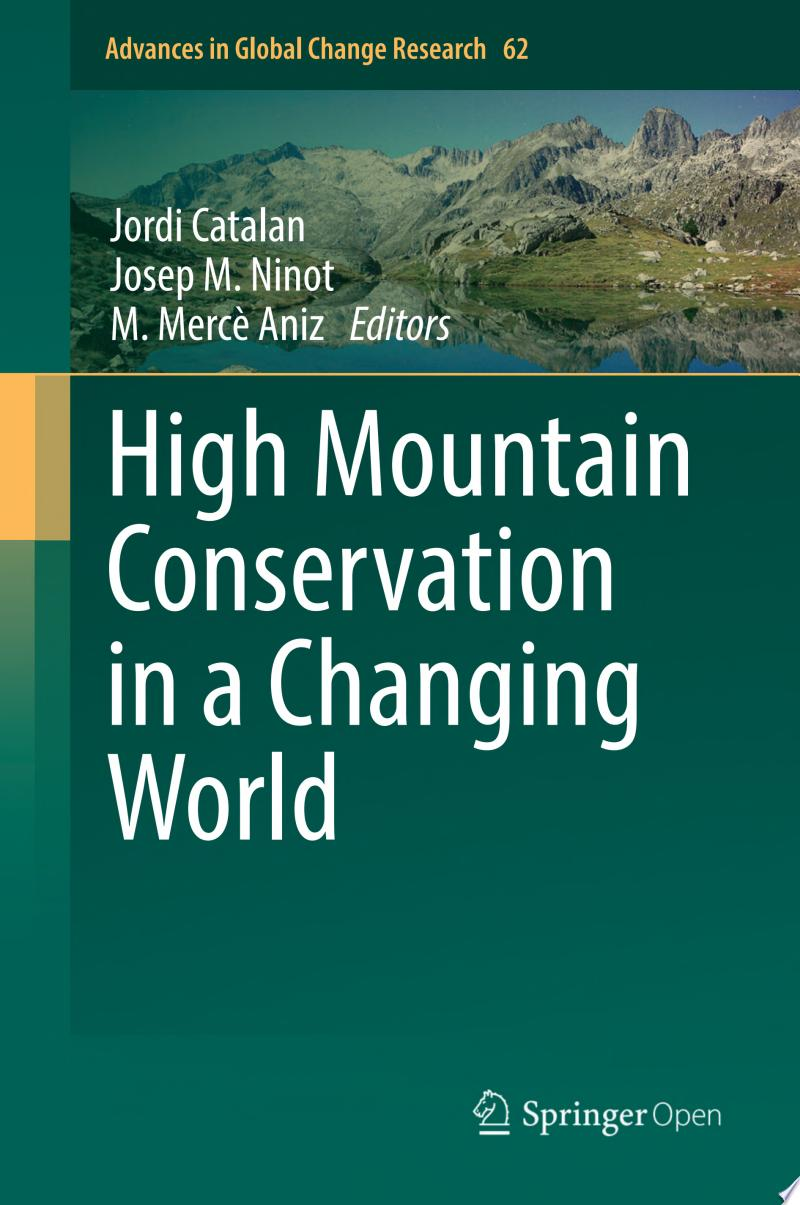 High Mountain Conservation in a Changing World banner backdrop