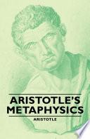 Aristotle's Metaphysics image