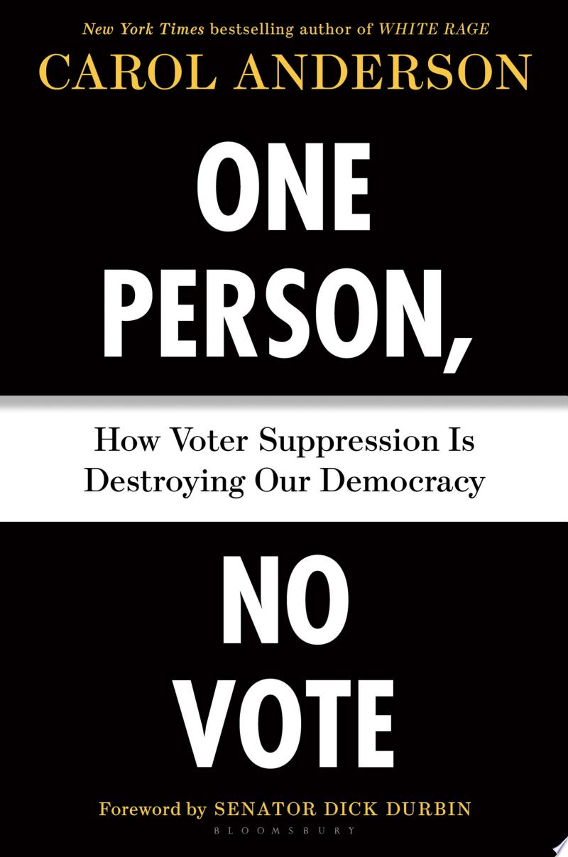 One Person, No Vote banner backdrop
