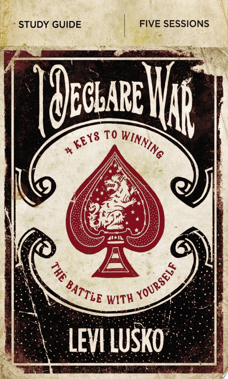 I Declare War Study Guide banner backdrop