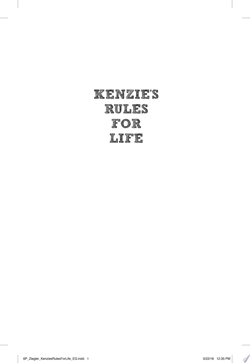 Kenzie's Rules for Life banner backdrop