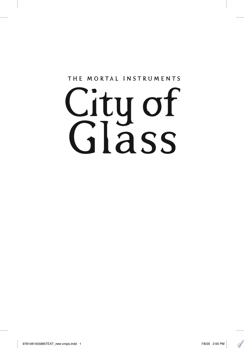City of Glass banner backdrop