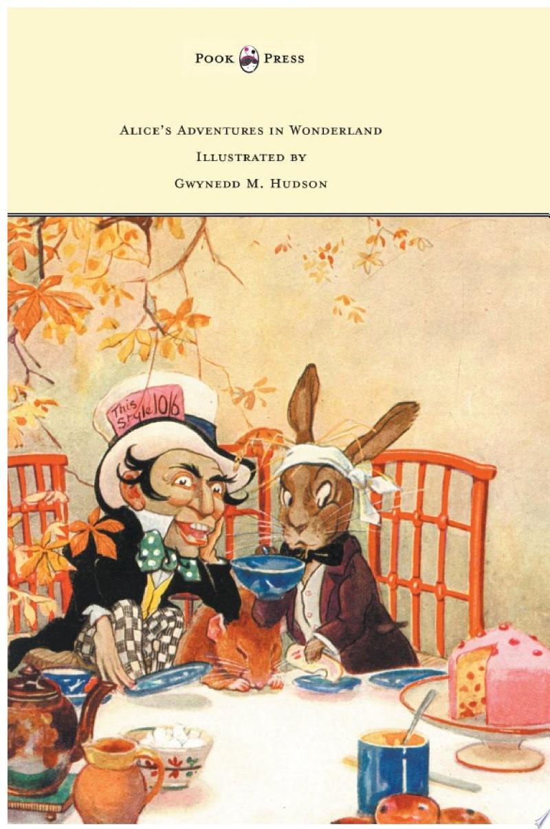 Alice's Adventures in Wonderland - Illustrated by Gwynedd M. Hudson banner backdrop