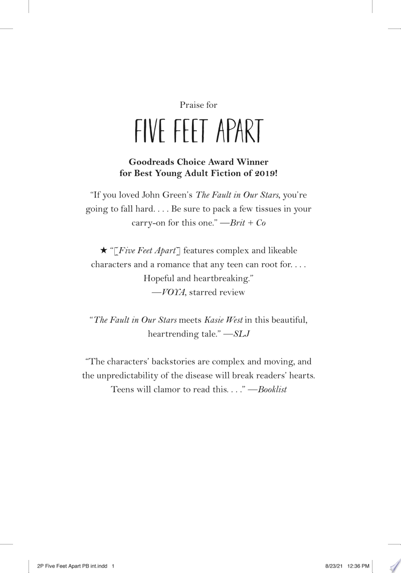 Five Feet Apart banner backdrop