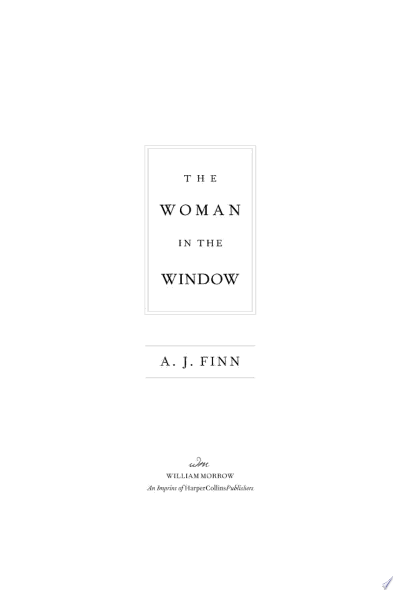The Woman in the Window banner backdrop