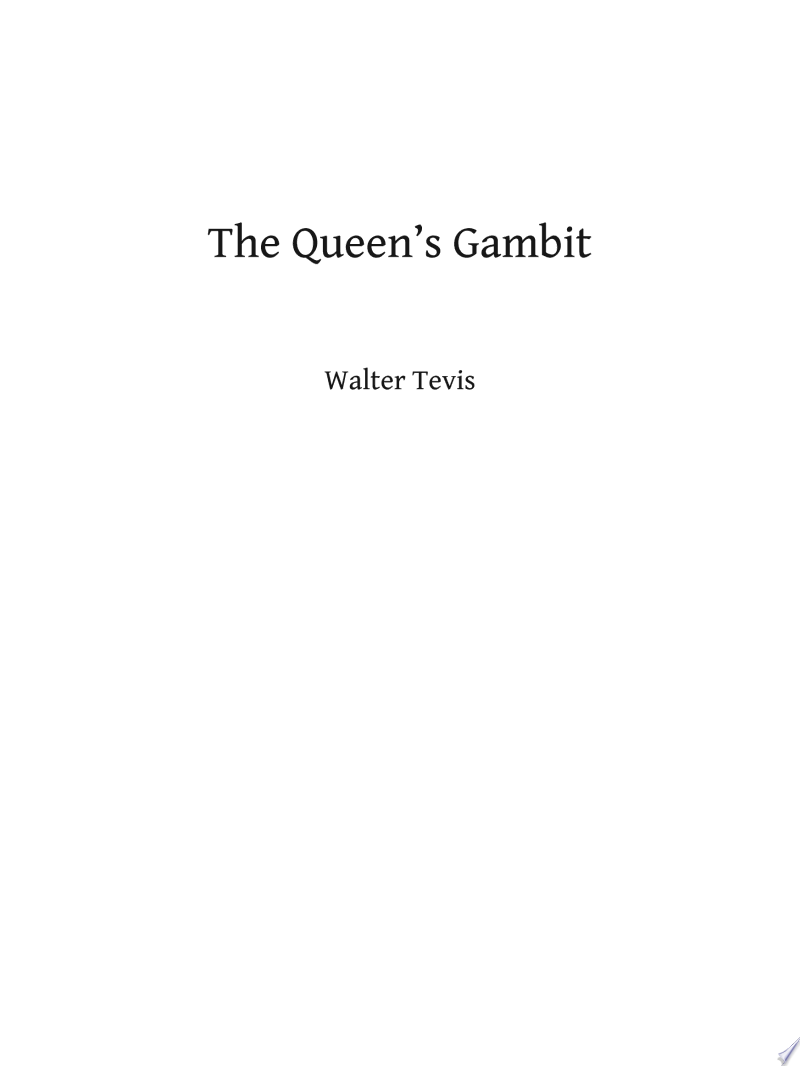 The Queen's Gambit banner backdrop