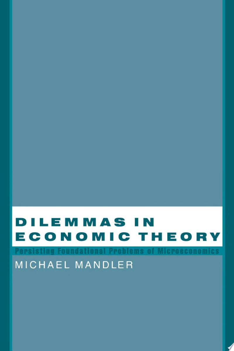 Dilemmas in Economic Theory banner backdrop
