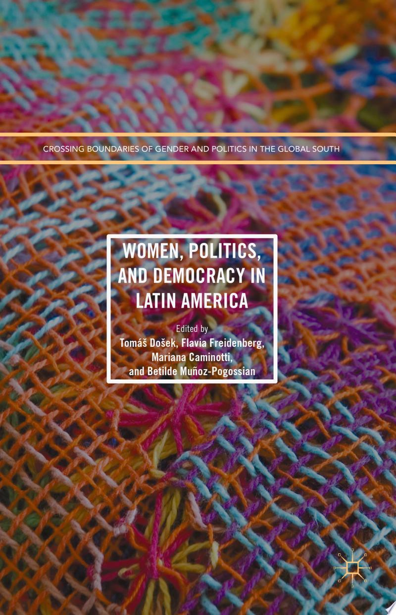 Women, Politics, and Democracy in Latin America banner backdrop