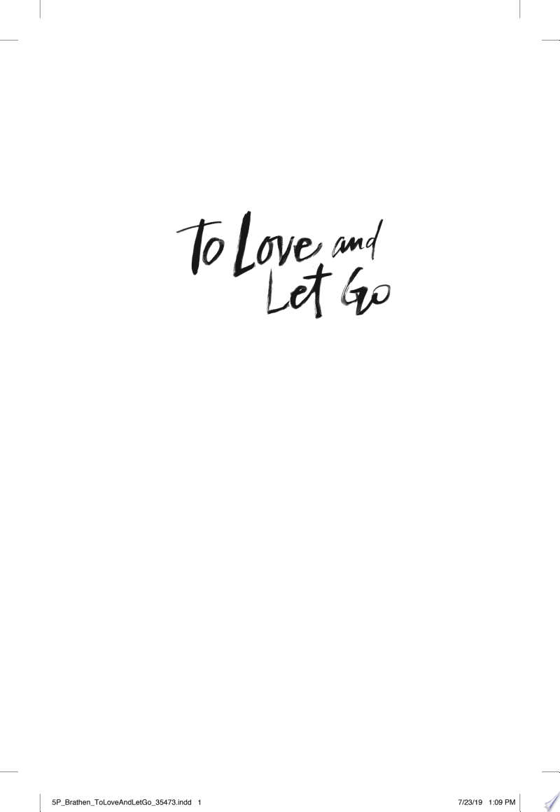 To Love and Let Go banner backdrop