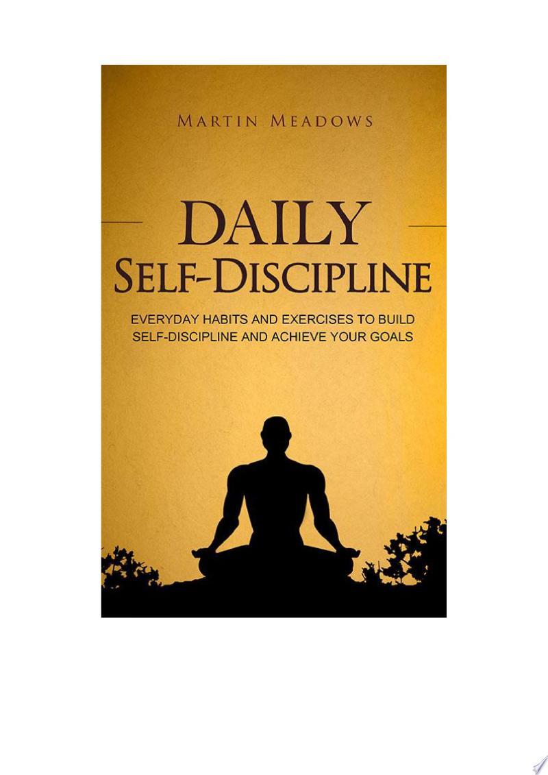 Daily Self-Discipline banner backdrop