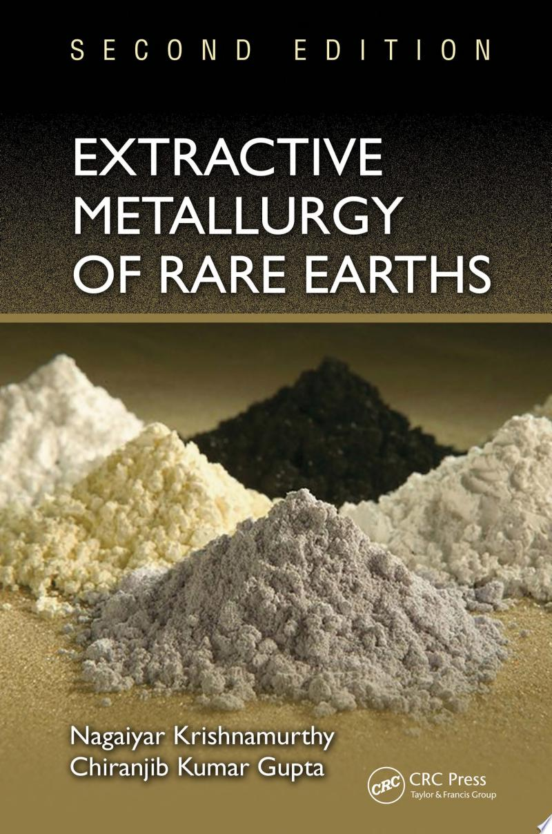 Extractive Metallurgy of Rare Earths banner backdrop