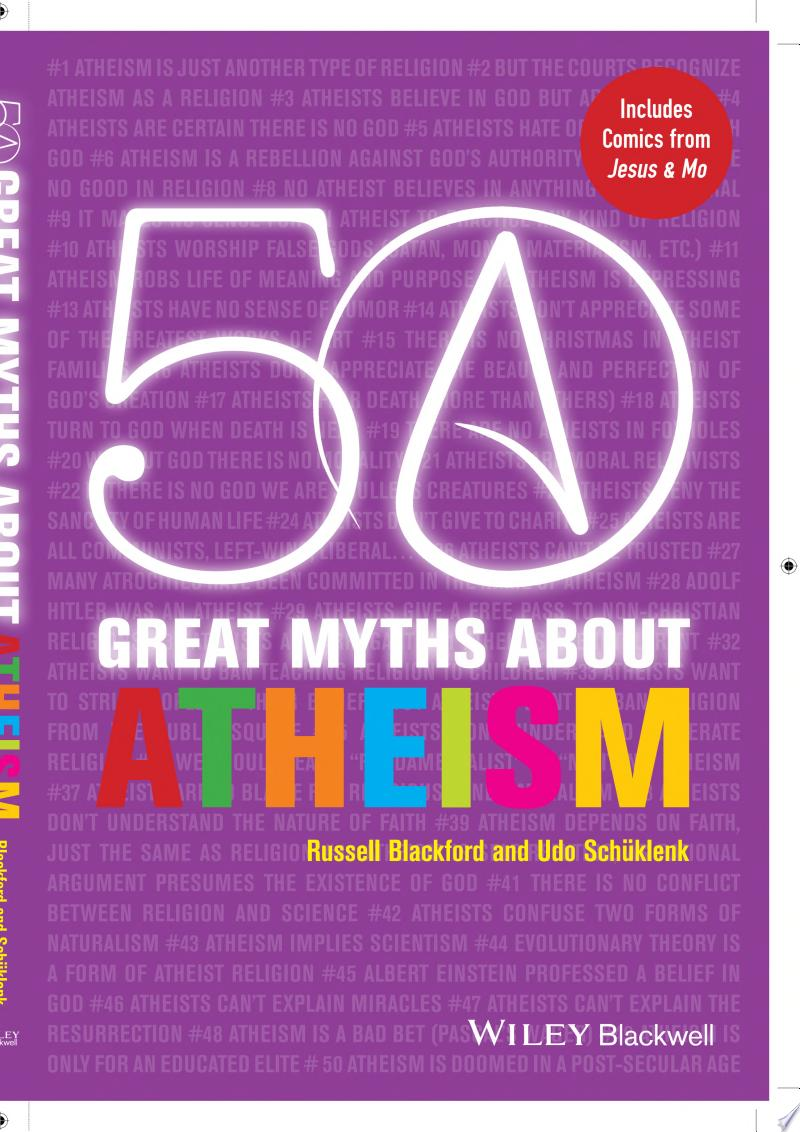 50 Great Myths About Atheism banner backdrop