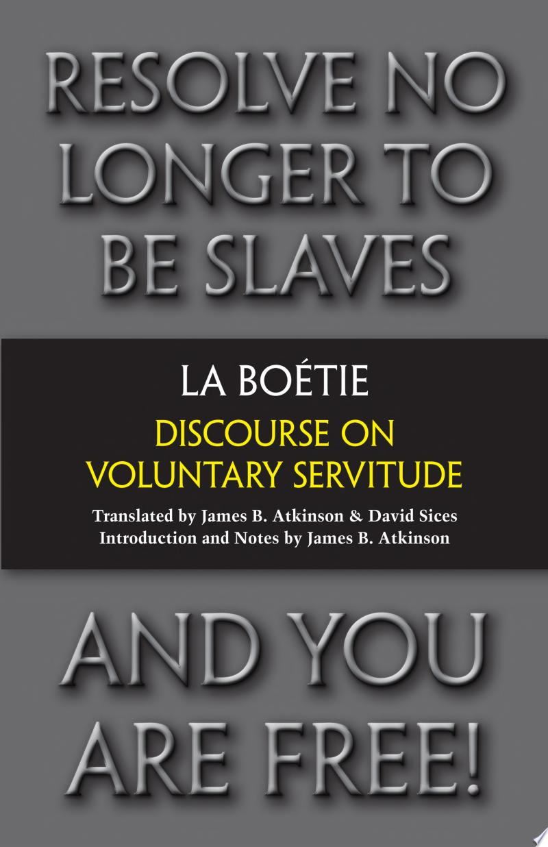 Discourse on Voluntary Servitude banner backdrop