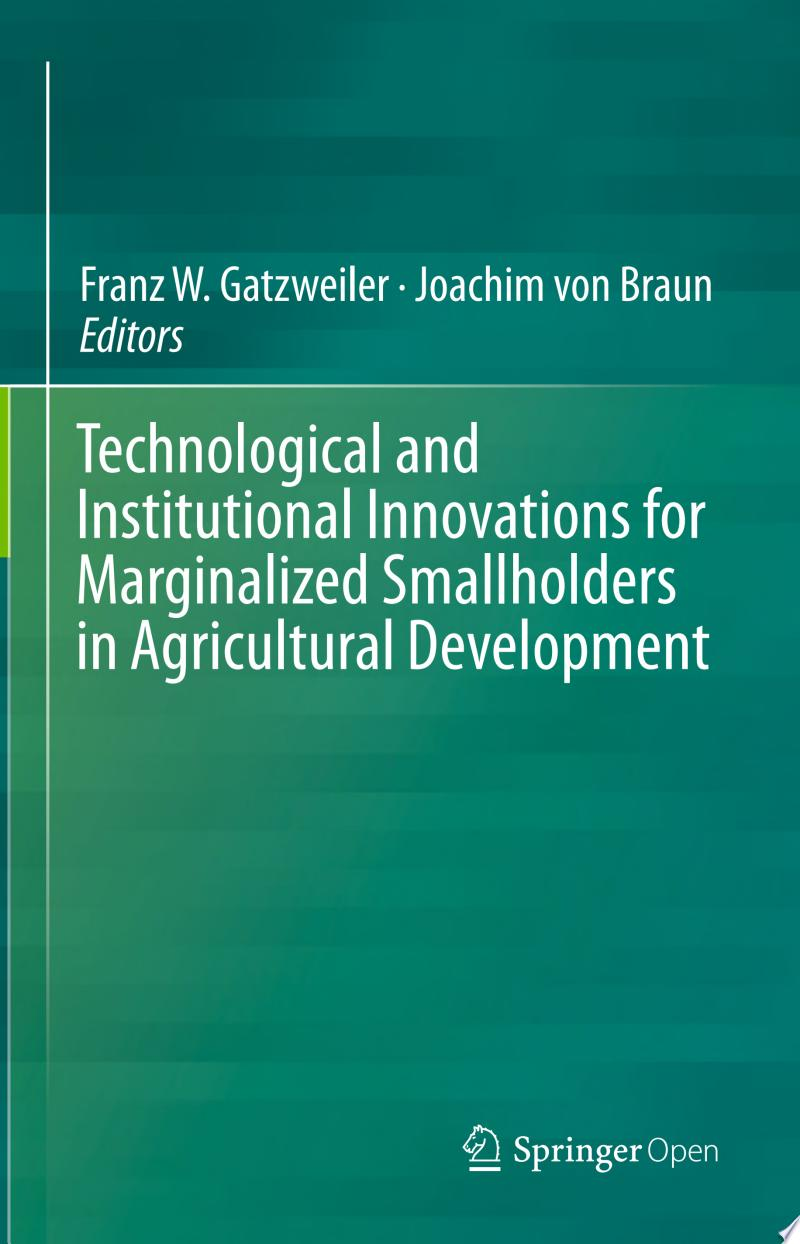 Technological and Institutional Innovations for Marginalized Smallholders in Agricultural Development banner backdrop