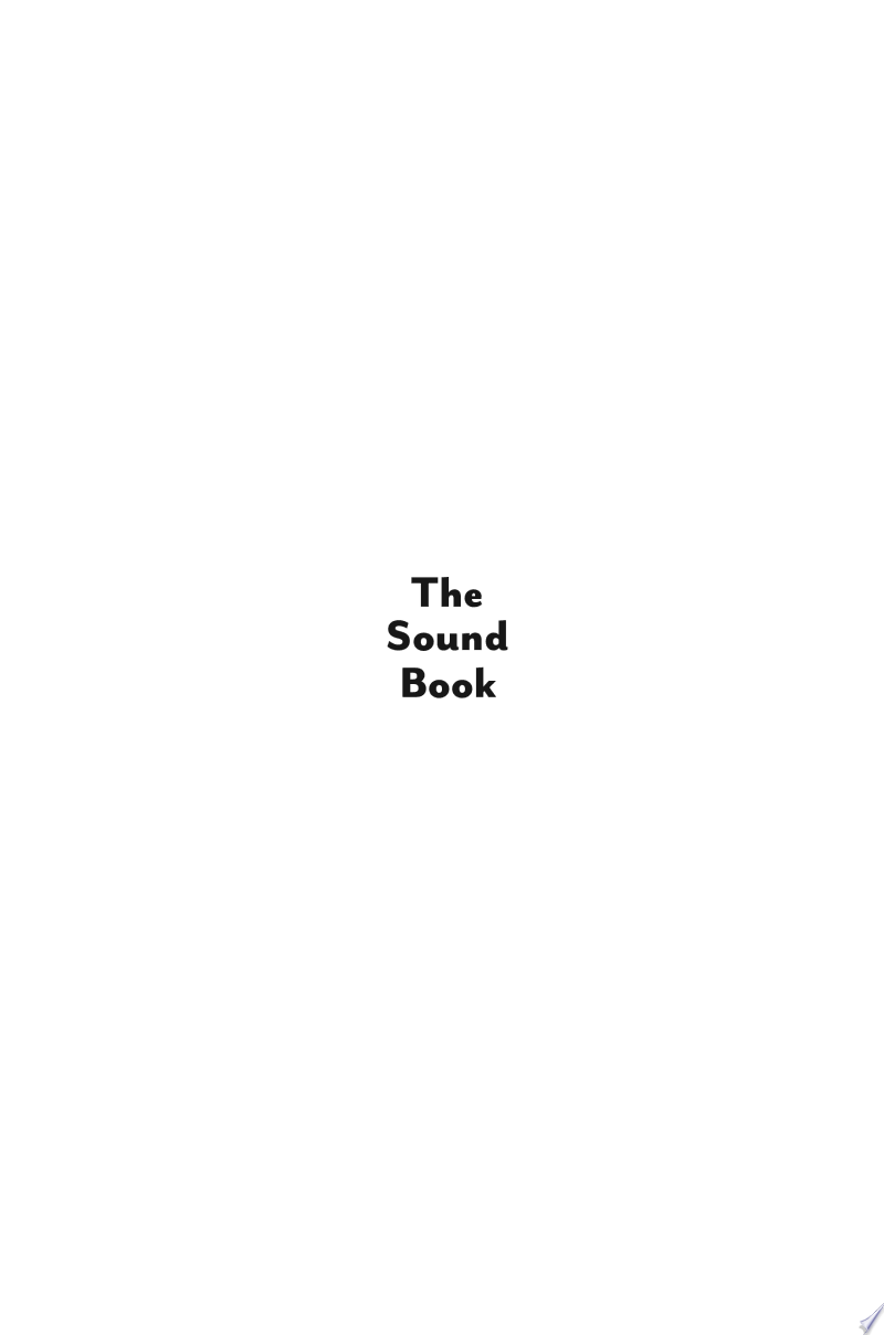 The Sound Book: The Science of the Sonic Wonders of the World banner backdrop