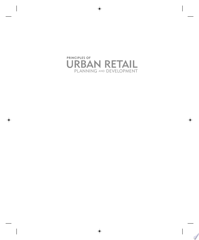 Principles of Urban Retail Planning and Development banner backdrop
