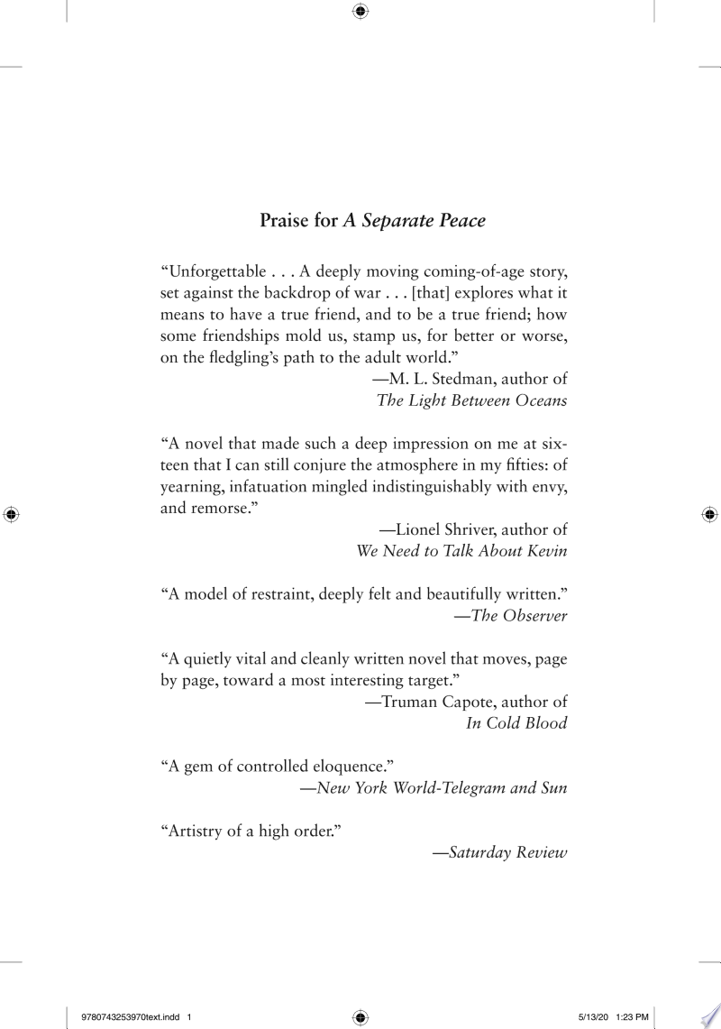 A Separate Peace banner backdrop