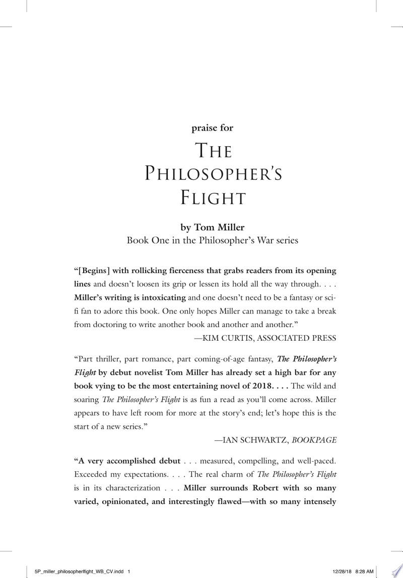 The Philosopher's Flight banner backdrop