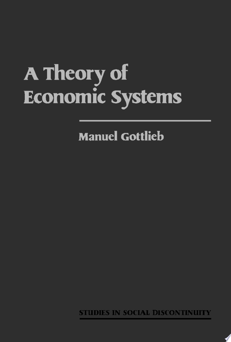 A Theory of Economic Systems banner backdrop