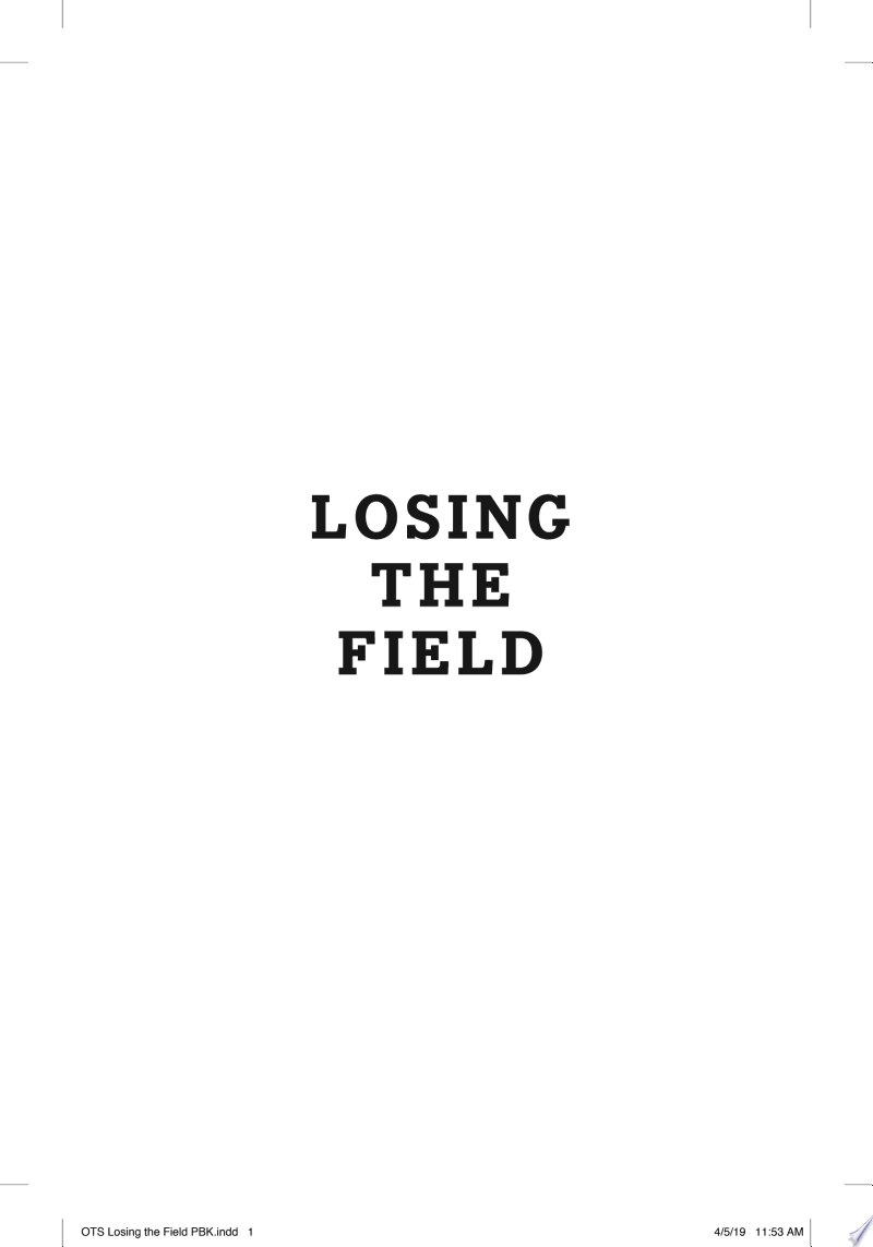 Losing the Field banner backdrop