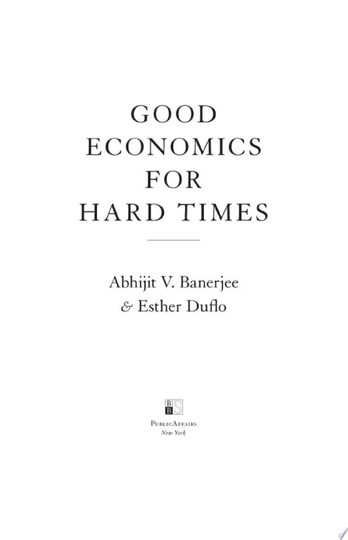 Good Economics for Hard Times banner backdrop