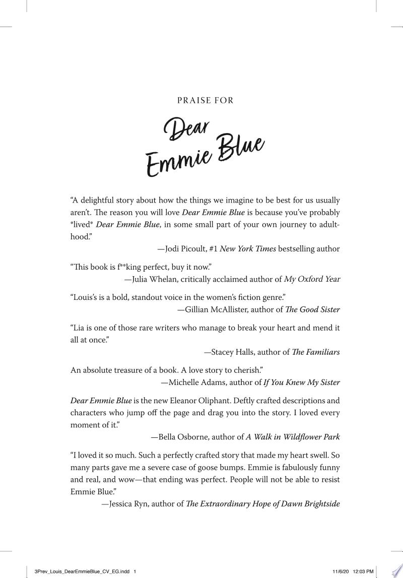 Dear Emmie Blue banner backdrop