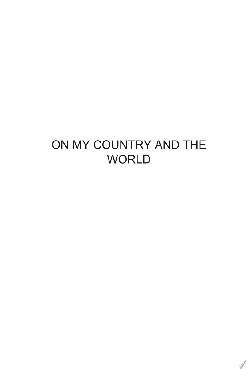 On My Country and the World banner backdrop