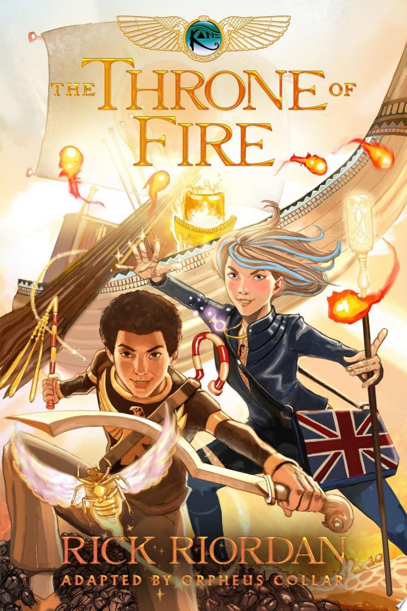 The Kane Chronicles, Book Two: The Throne of Fire: The Graphic Novel banner backdrop