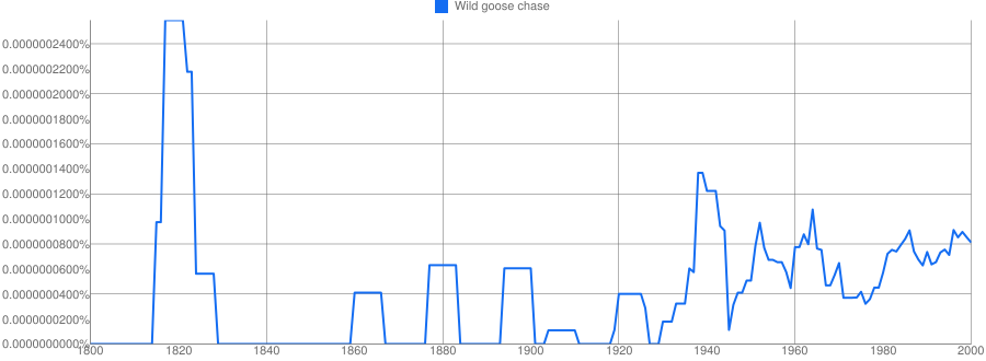 wild goose chase meaning